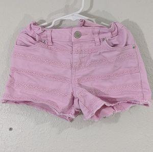 5 for $13 Cat & Jack Pink Adjustable Jean Shorts